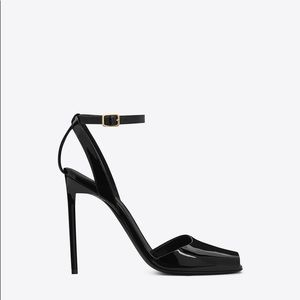 Saint Laurent Edie 110mm Patent Sandals